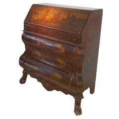 Baroque revival secretaire bookcase at 1stdibs - Bureau secretaire vintage ...