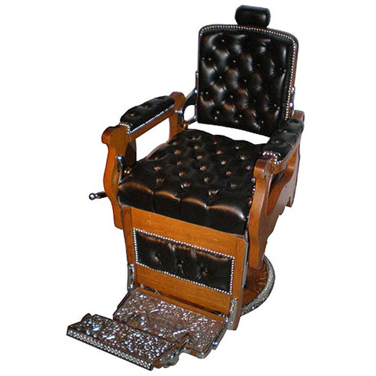 Barber Chair By Ernest Koken At 1stdibs