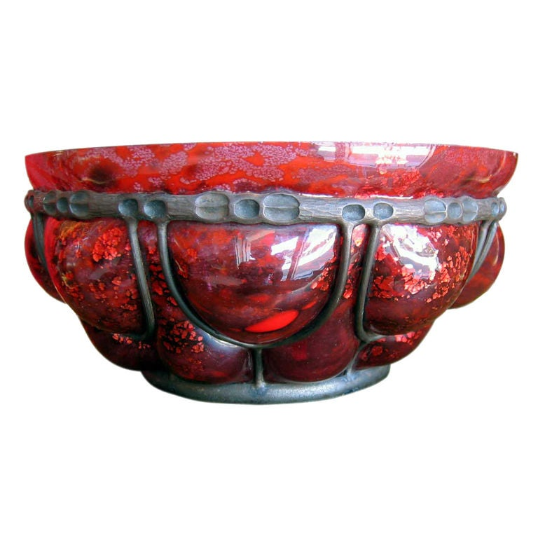 French Art Deco Bowl by Daum Nancy and L. Majorelle For Sale