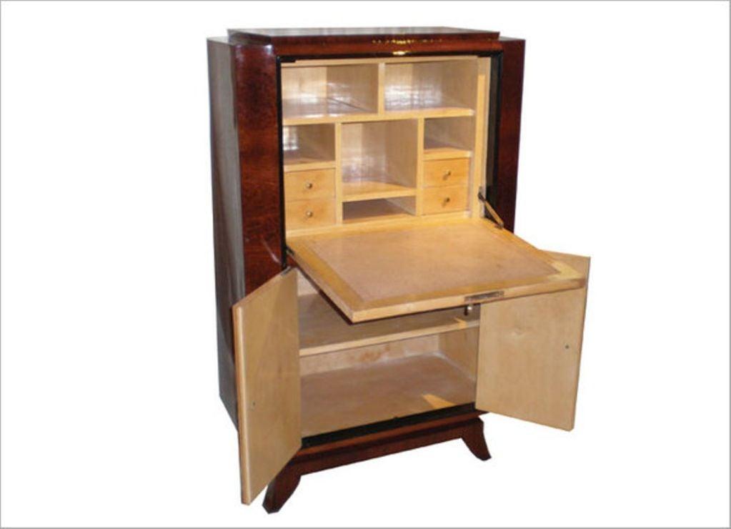 french art deco secretaire for sale at 1stdibs. Black Bedroom Furniture Sets. Home Design Ideas