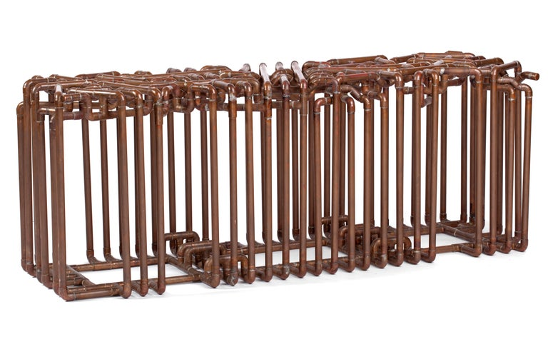 Bale: Bench in Copper by TJ Volonis For Sale