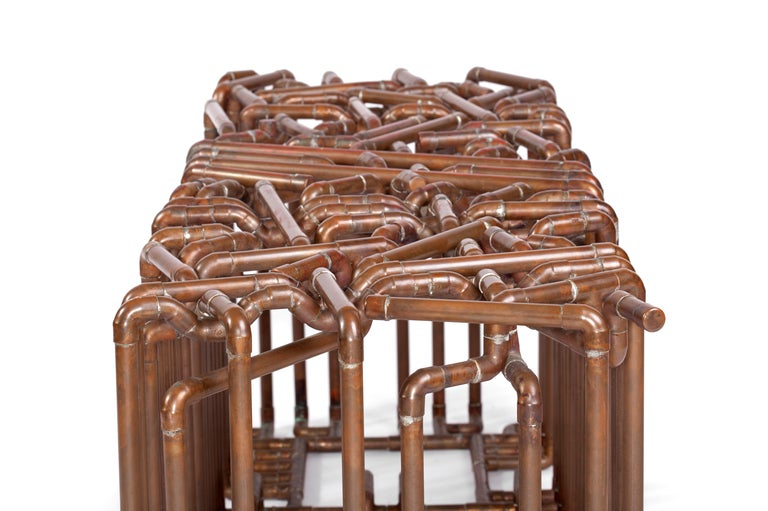 Bale: Bench in Copper by TJ Volonis For Sale 1