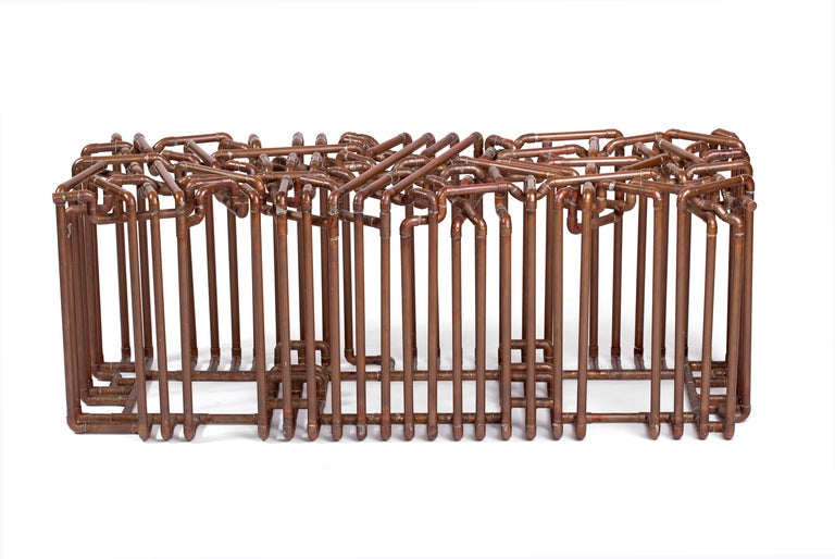 Title: Bale Year: 2006  An intricately woven bench skillfully constructed from 1/2
