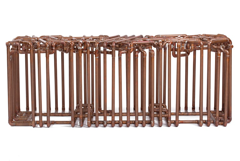 Industrial Bale: Bench in Copper by TJ Volonis For Sale