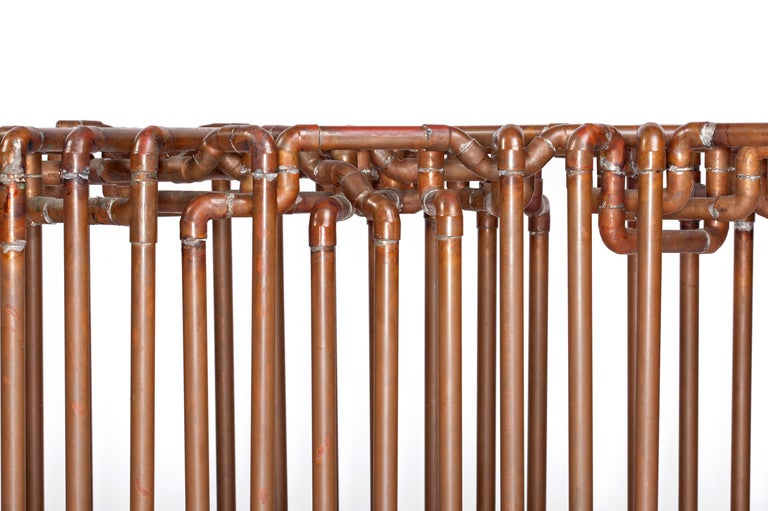 American Bale: Bench in Copper by TJ Volonis For Sale