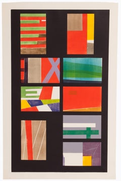 """Seong Moy """"Changes"""" Color Chipboard Relief Artist's Proof 4/13, circa 1965"""