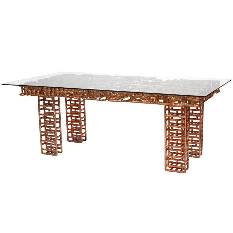 Sangre y Tanqueray: Table or Desk in Copper by TJ Volonis