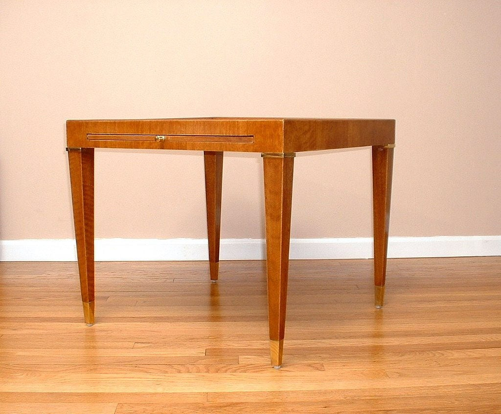 Desk With Pull Out Table Lacquered Mahogany End Table With Pullout Tray For Sale At 1Stdibs