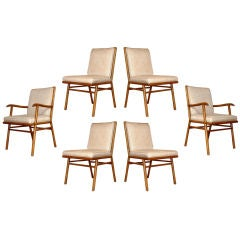 A Set of 6 Dining Chairs by T.H. Robsjohn-Gibbings for Widdicomb