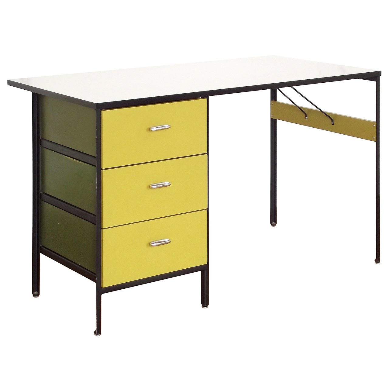 1950s Steel Frame Case Series Desk By George Nelson For