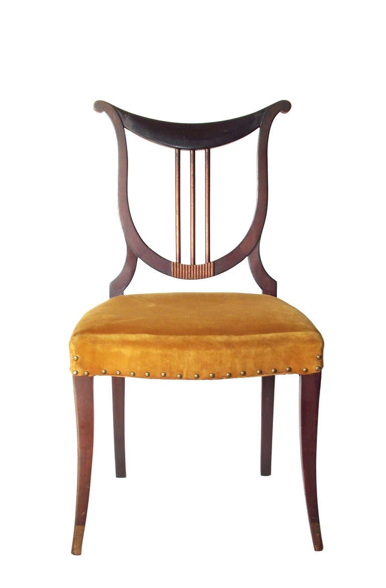 Stylish Pair Of 1930s Quot Orpheus Quot Side Chairs At 1stdibs