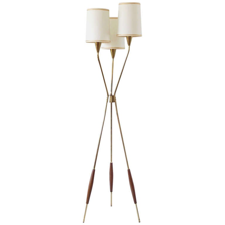 Floor Lamp By Gerald Thurston For Lightolier At 1stdibs