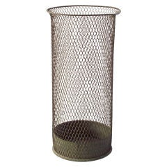Extra-Tall 1940s American Industrial Wastepaper Basket