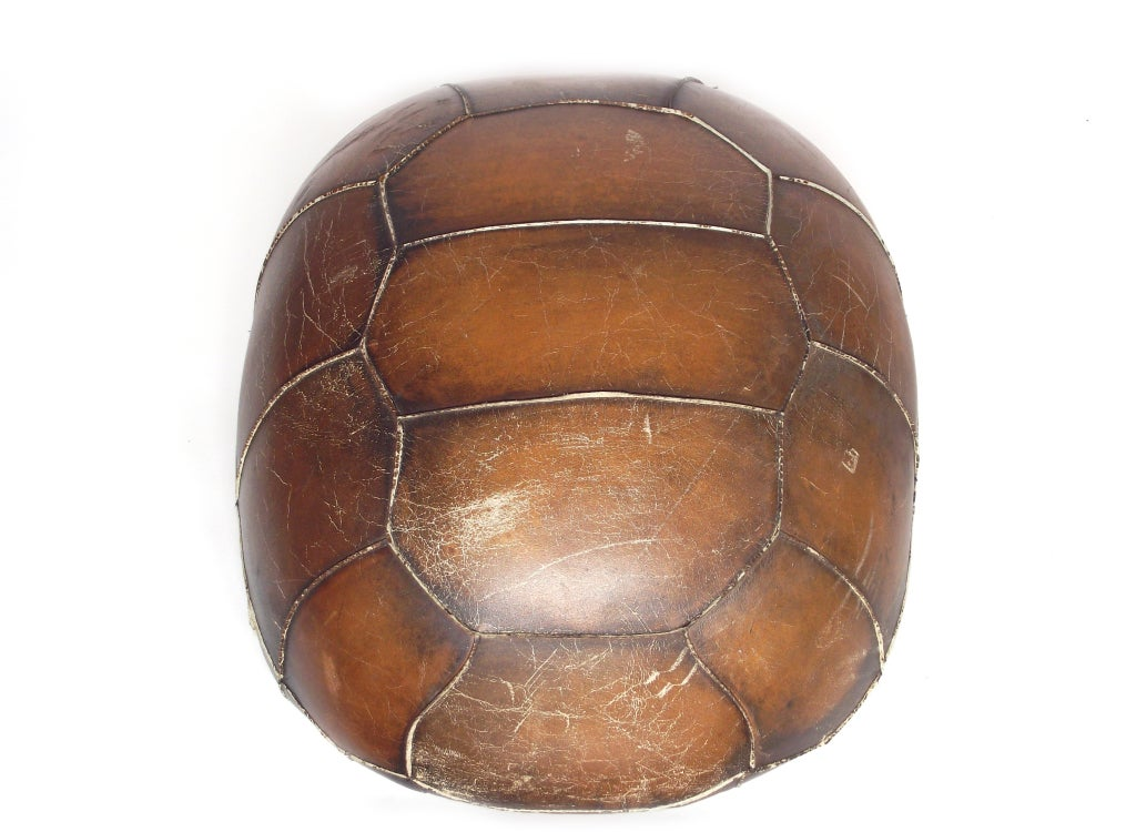 Leather Tortoise Shell Footstool At 1stdibs