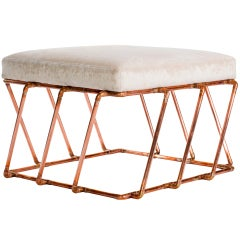 Aperture: Ottoman in Copper by TJ Volonis
