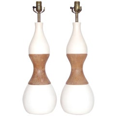 Pair of Ceramic Driftwood-Form Faux Bois Table Lamps For Sale at ...