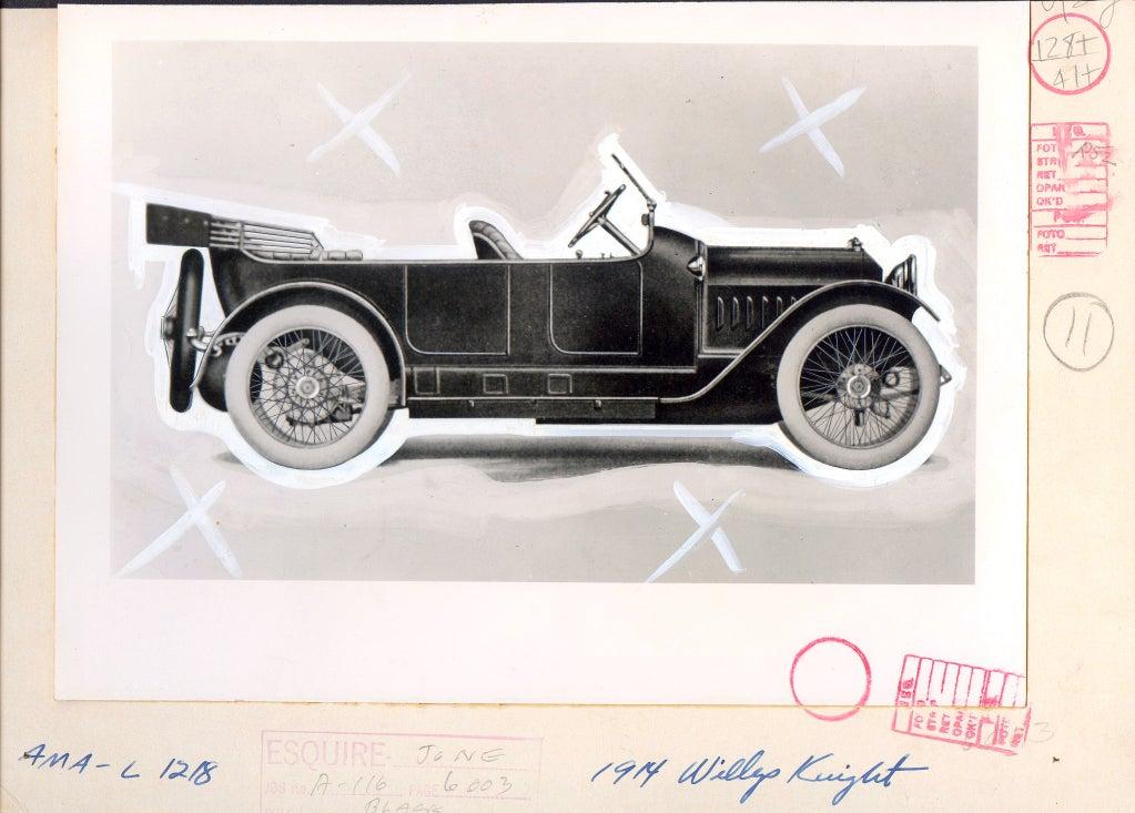 Antique Automobiles - Esquire Magazine Art Department c. 1940s 3