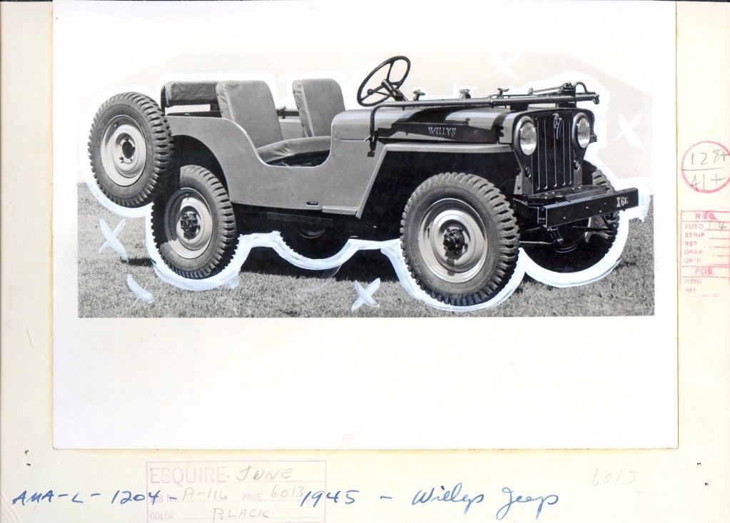 Antique Automobiles - Esquire Magazine Art Department c. 1940s 5