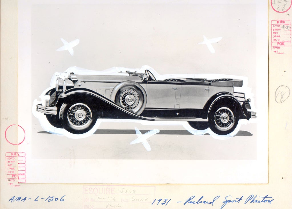 Antique Automobiles - Esquire Magazine Art Department c. 1940s 7