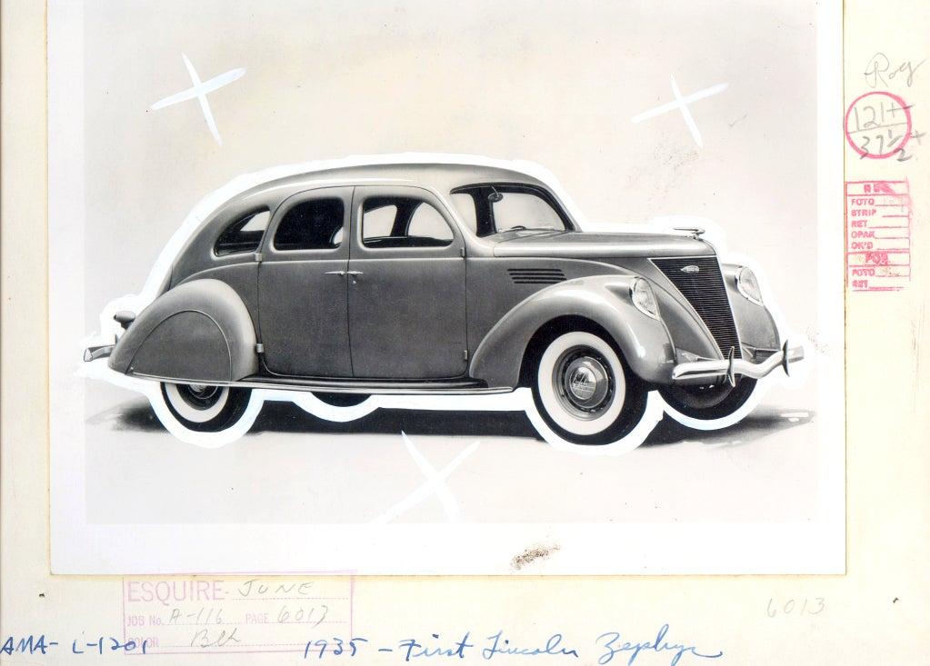 Antique Automobiles - Esquire Magazine Art Department c. 1940s 9