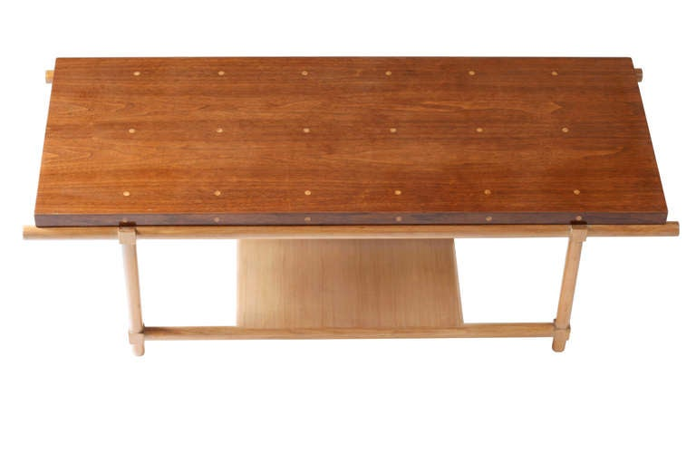 Rare Tommi Parzinger Cocktail Table With Pull Out Stools And Side Tables For Sale At 1stdibs