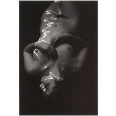 "1978 ""Laser Nude"" Silver Gelatin Print by Erich Hartmann, Signed"
