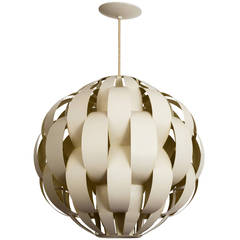 Large 1960s Modern 'Ribbons' Pendant Light Fixture after Max Sauze