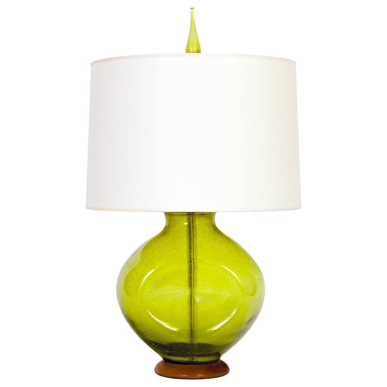 this 1950s green glass table lamp by wayne husted for blenko is no. Black Bedroom Furniture Sets. Home Design Ideas