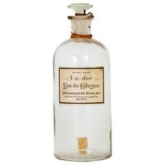 Antique Bloomingdale Brothers Eau de Cologne Glass Dramming Bottle
