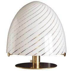 """Unusual 1960s Murano Glass """"Egg"""" Lamp"""