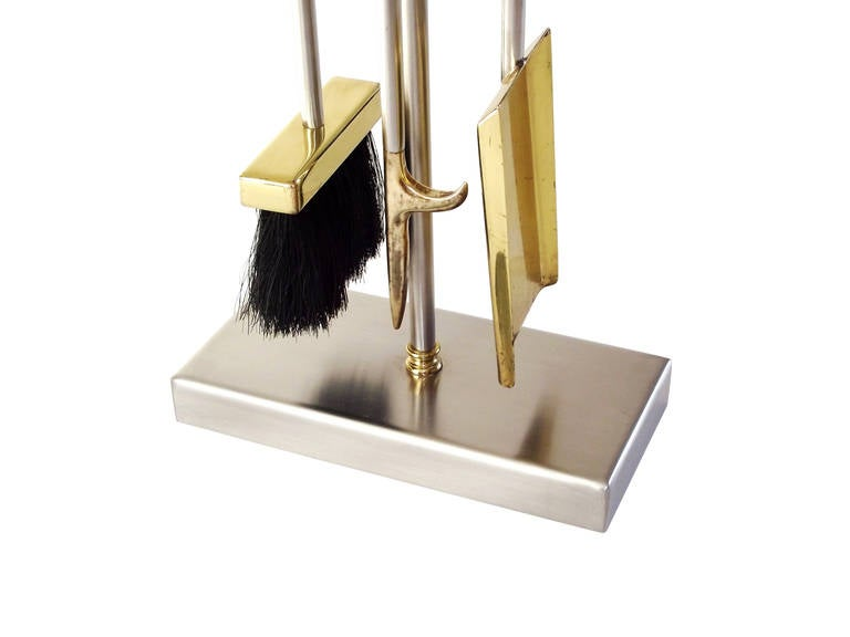Modern Fire Tools In Solid Brass And Stainless Steel By Danny Alessandro At 1stdibs