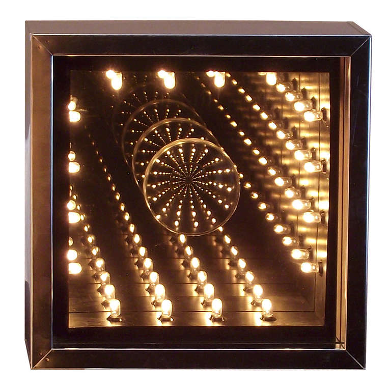 Petite 1970s Infinity Mirror In Chrome At 1stdibs