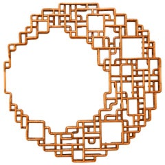 """""""Selenoglyph"""" Wall-Mounted Sculpture in Copper by TJ Volonis"""