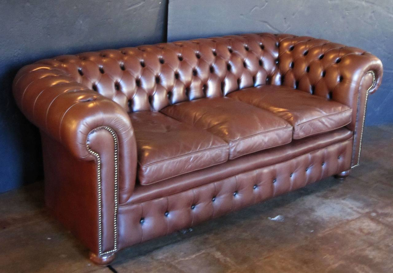 English Chesterfield Sofa Cococohome English Chesterfield Fabric Sofa Made In Usa TheSofa