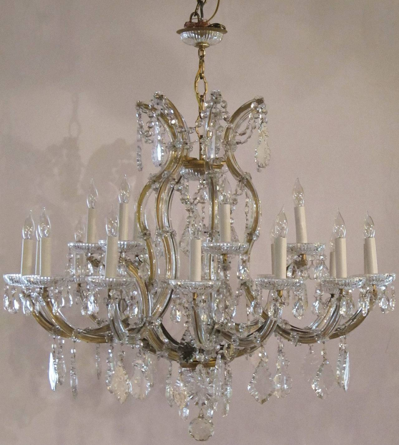 Large Maria Theresa Twenty-Two-Light Chandelier 2