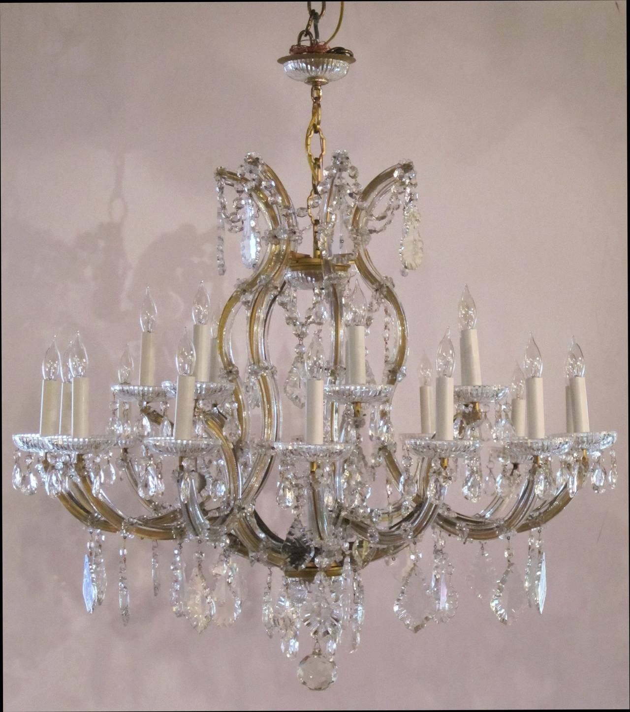 Large Maria Theresa Twenty-Two-Light Chandelier 6