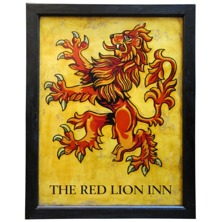 English Pub Sign The Red Lion Inn At 1stdibs
