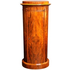 Swedish Tall Bar Cabinet of Figured Walnut