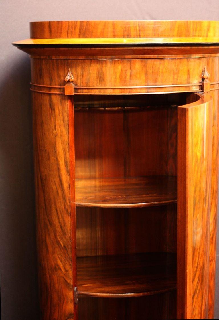Swedish tall bar cabinet of figured walnut at 1stdibs for Sellaro arredamenti