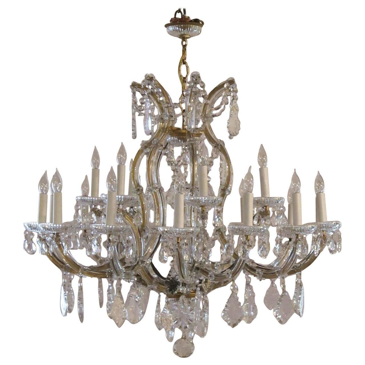 Large Maria Theresa Twentytwo Light Chandelier 34