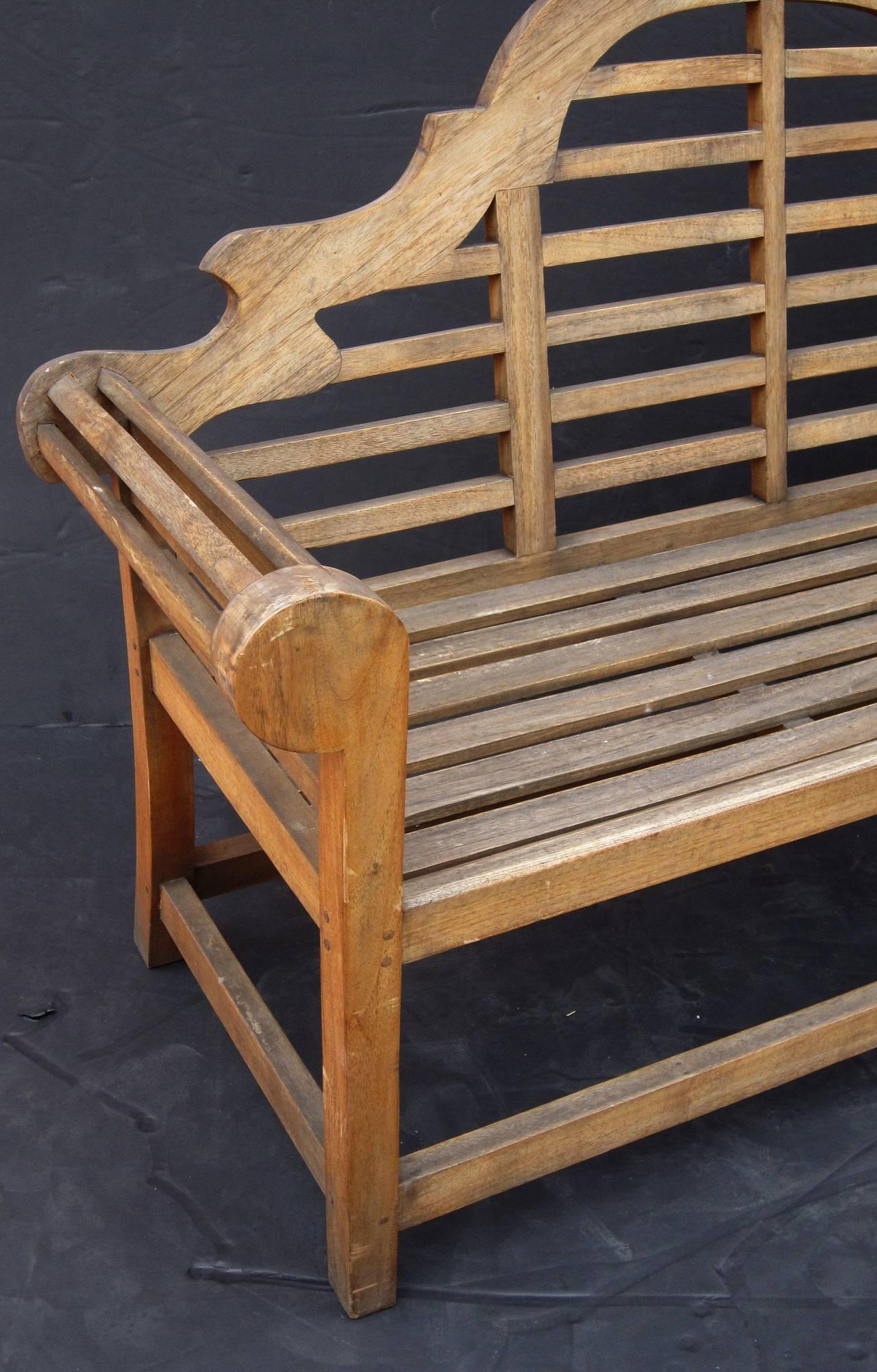 Lutyens Style Garden Bench Seat