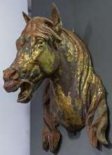 Large French Horse Head or Bust of Zinc image 3
