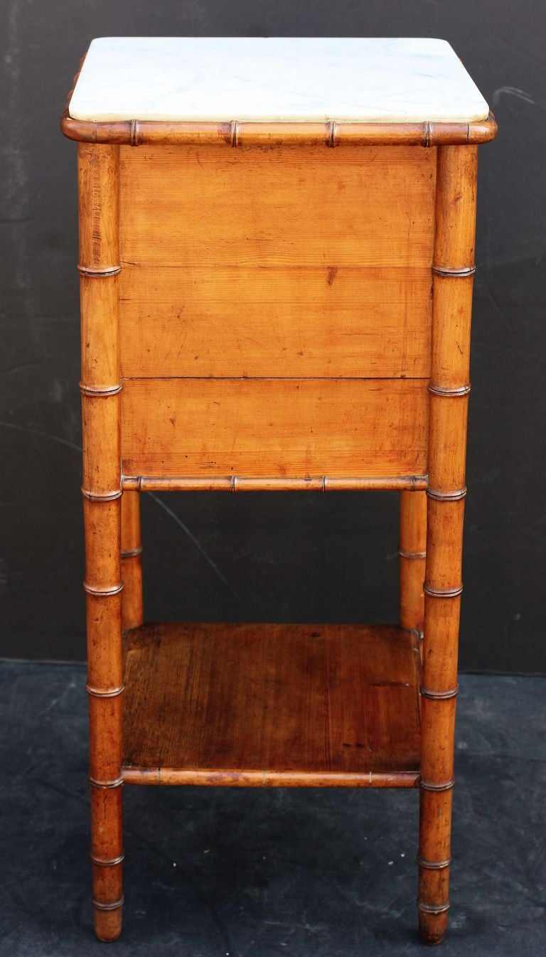 Faux Bamboo Night Stand At 1stdibs