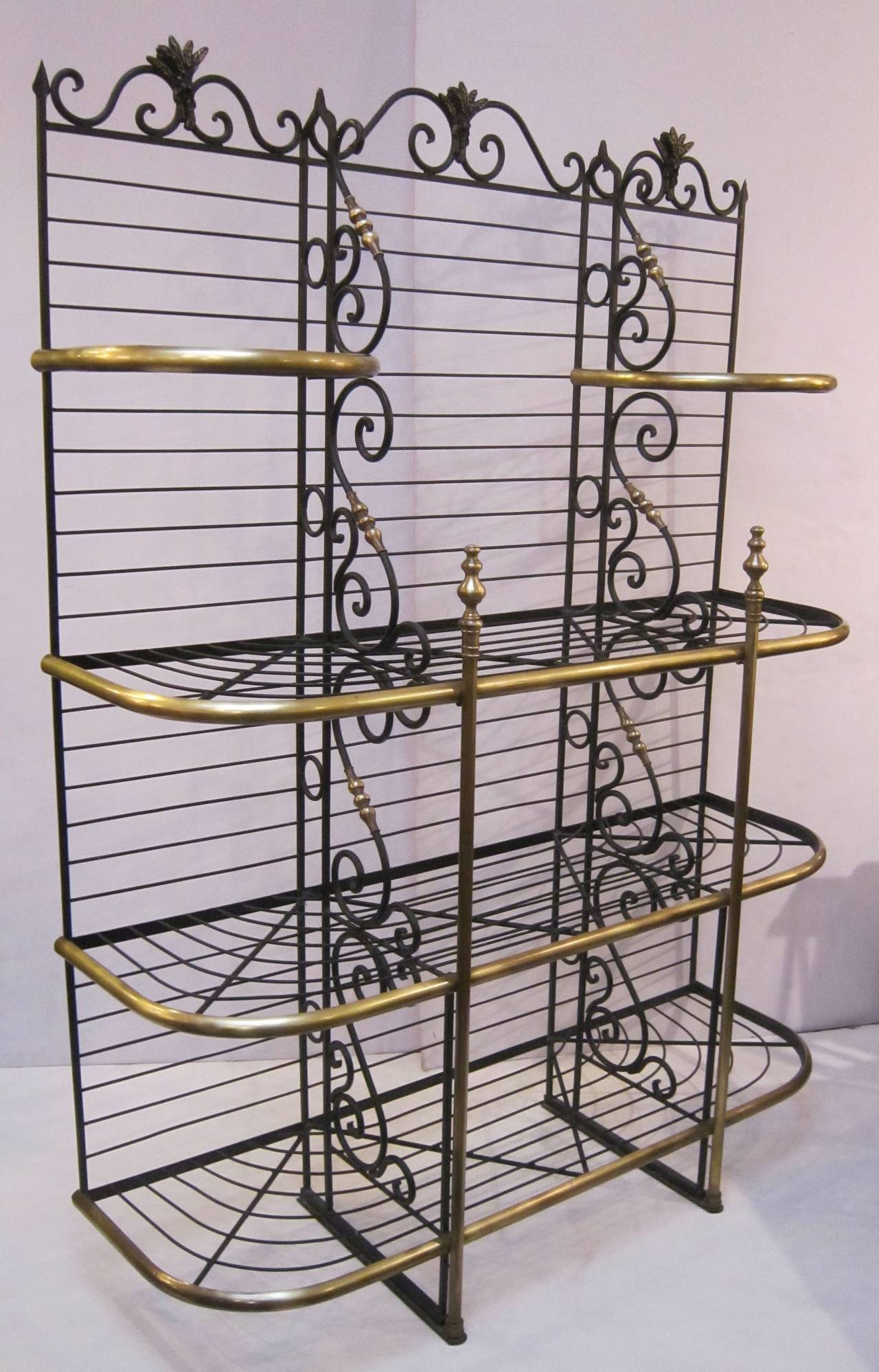 French Baker S Rack Of Wrought Iron And Br In Excellent Condition For Austin