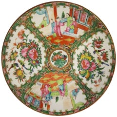 19th c. Famille Rose (Chinese Canton Export) Charger