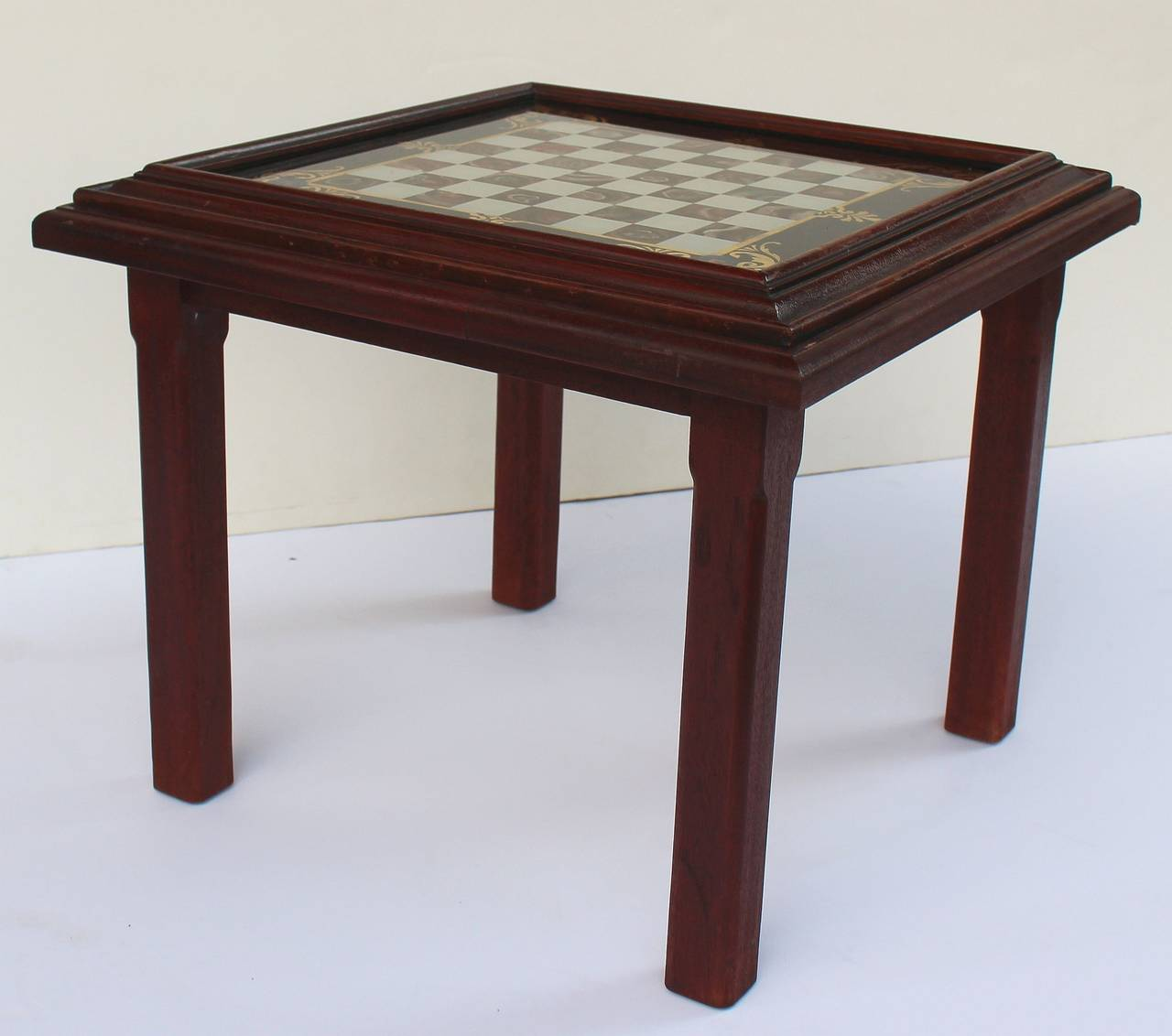 Charmant An English Low Or Cocktail Table With A Games Top, Featuring A Square  Reverse Faux