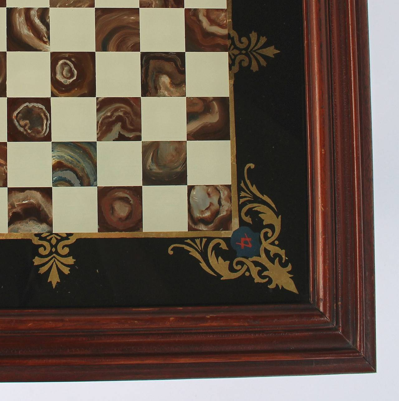 20th Century English Low Cocktail or Coffee Table with Chess Board Top For Sale