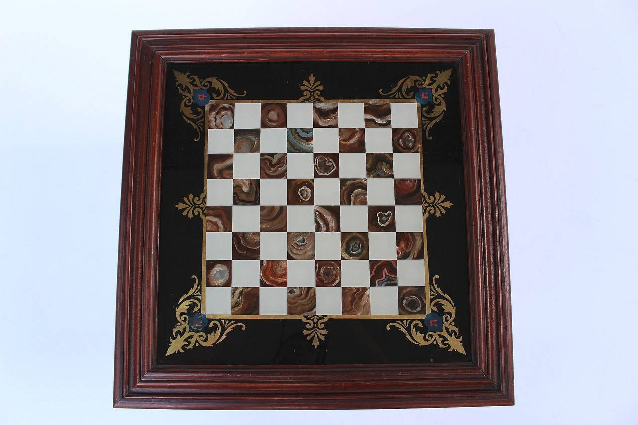 English Low Cocktail or Coffee Table with Chess Board Top In Good Condition For Sale In Austin, TX