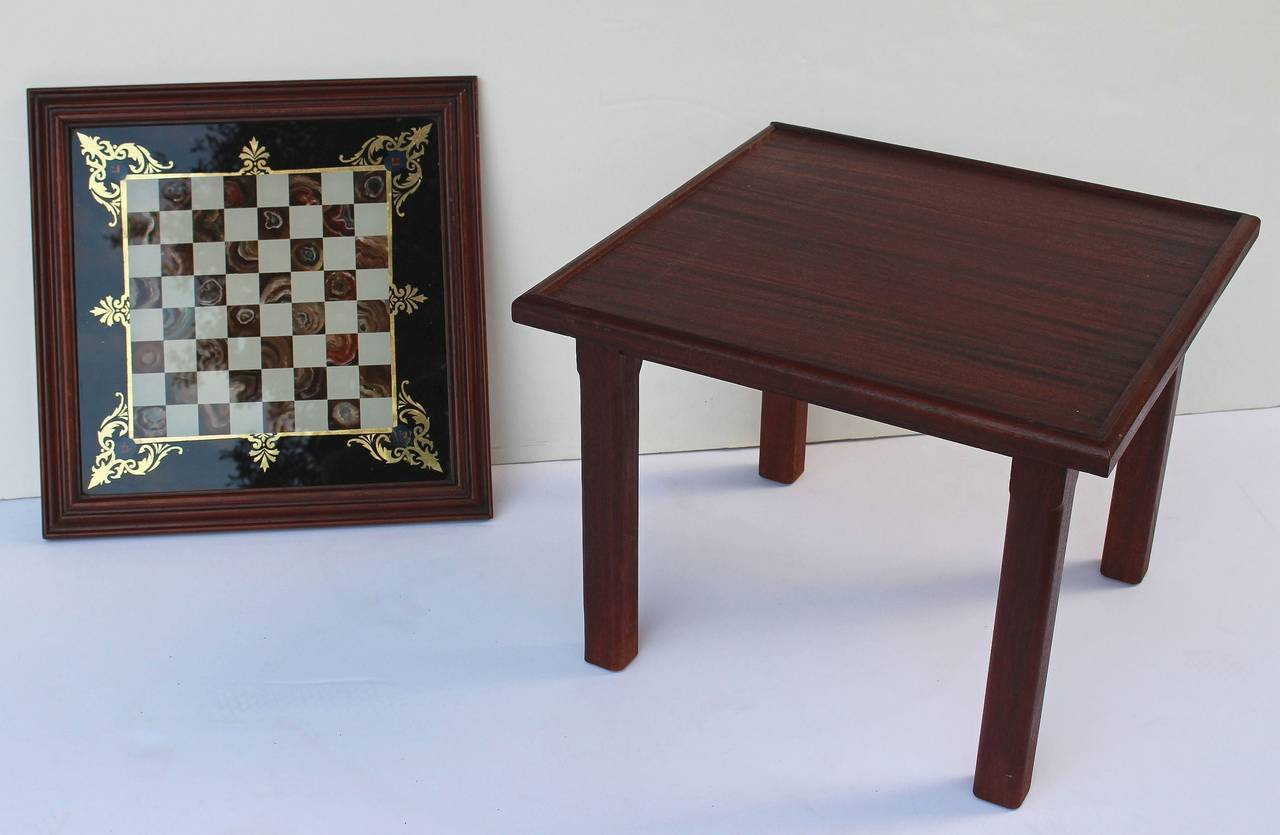 English Low Table With Chess Board Top For Sale At 1stdibs
