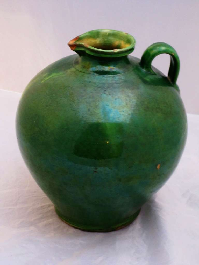 French Green Glaze Pots For Sale At 1stdibs